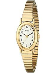 Timex Womens T21872 Cavatina Gold-Tone Stainless Steel Expansion Band Watch