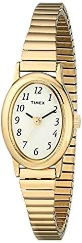 Timex Women's T21872 Cavatina Gold-Tone Stainless Steel Expansion Band Watch - Timex Water Resistant Watch