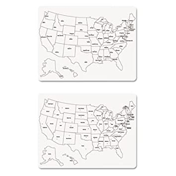 Amazoncom TwoSided US Map Whiteboard X Dry Erase - Us map whiteboard