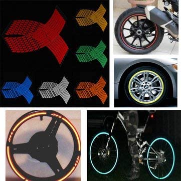Accessories Reflective Stickers Bicycle Car Motorcycle  Decal  Wheel Rim