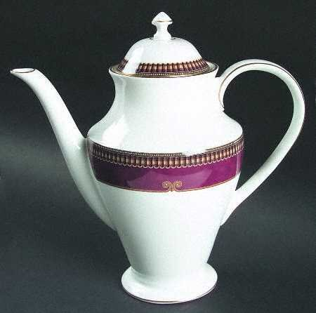 WATERFORD GLENMONT FINE CHINA PORCELAIN LARGE COFFEE POT by Waterford