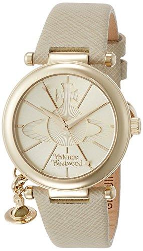 Vivienne Westwood watch ORB POP gold dial ivory leather Quartz VV006GDCM Ladies