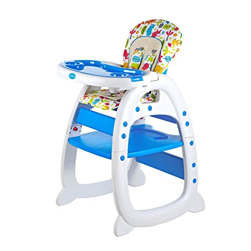 Evezo Rose Baby High Chair and Table 3-in-1 Convertible 2in 1 Convertible High Chair