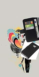 LECELL--Cuero de la tarjeta la carpeta del tirón Smartphone Slots Protección Holder For Samsung Galaxy S6 EDGE -- Collage de la cámara Arte Señores Cine --