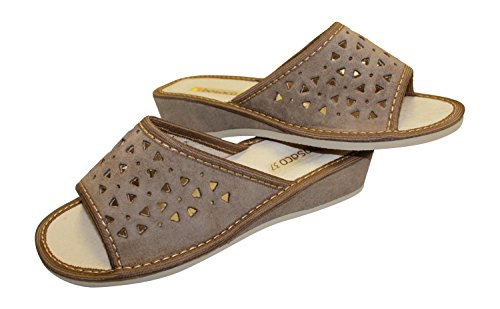 Olive Suede Slippers Comfort V1 Genuine Ladies Leather Bosaco Light Luxury Womens qnPSSx