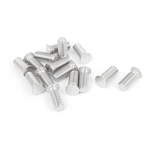 uxcell M6x15mm Flush Head Stainless Steel Self Clinching Threaded Studs 15pcs