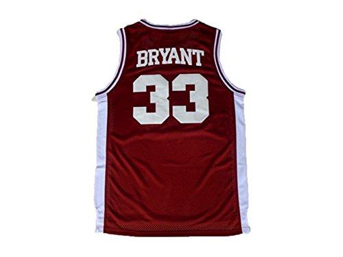 JonSnow Men's Jerseys High School 33 Basketball Jersey, Red, Large