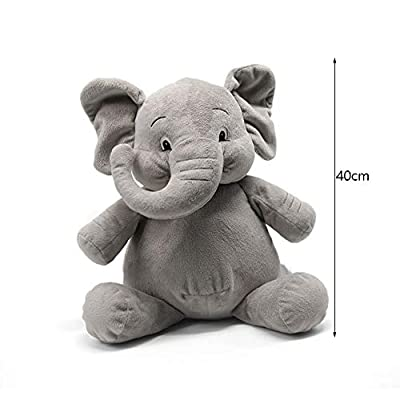 Poooc Chubby Elephant Plush Toy Cute Baby Pillow Cushion Cuddle Comforter Toy for Toddlers Newborns to Accompany to Sleep Birthday Gift & Valentine's Day for Her, Adorable Cotton Ragdoll: Sports & Outdoors