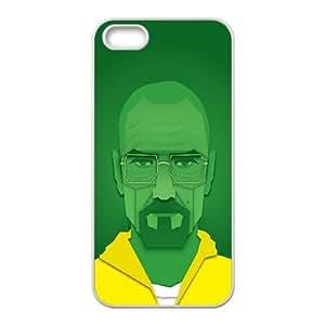 iPhone 5 5s Cell Phone Case White Breaking Bad Walter White Vector Artwork JNR2235950