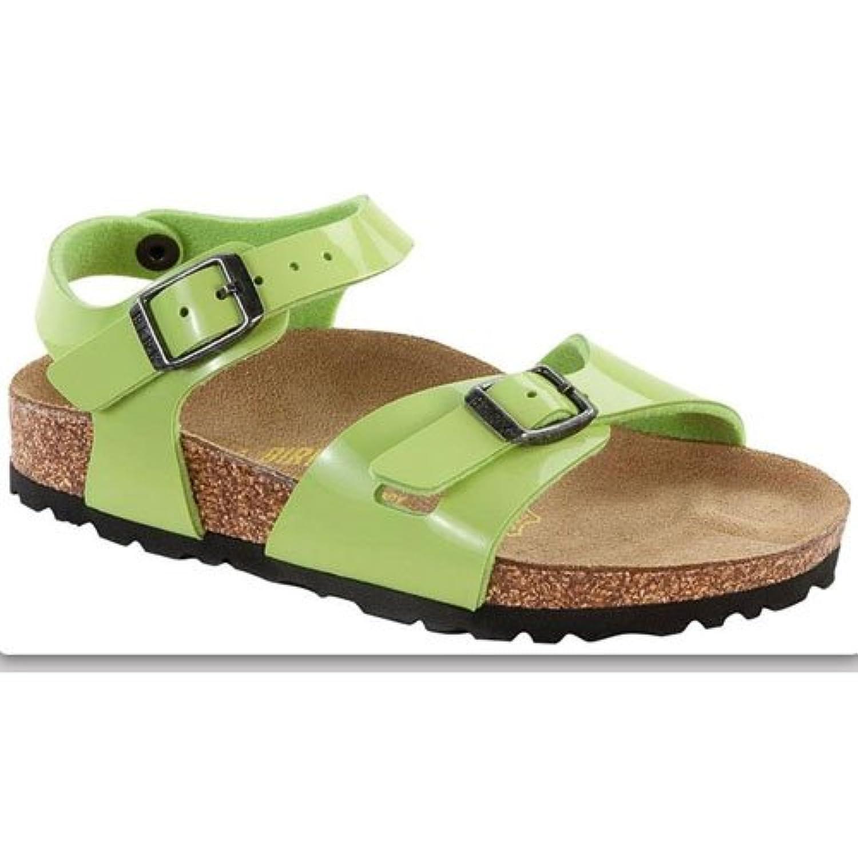 Birkenstock Rio, Girls' Sandals, White Lack, 13.5 UK Child (32 EU)