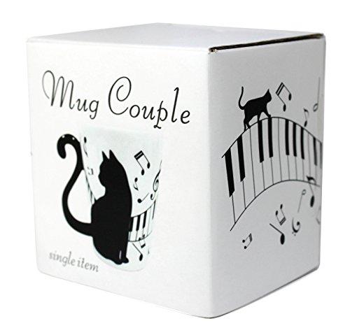 Mug Couple Piano Cat Mug (Male) 300ml/10fl oz (Japan Import)