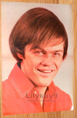- MICKY DOLENZ CENTERFOLD POSTER 1967 Teen Pin-up Pinup THE MONKEES Double-Page Magazine Photo Clipping MICKEY