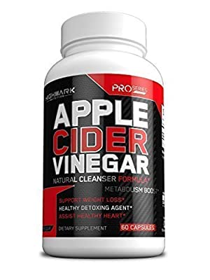 100% Organic Apple Cider Vinegar Capsules by HighMark Nutrition | Fast Weight Loss Pills for Women & Men | Natural Weight Loss & Healthy Detox Cleanse (1300mg | 60 Pills)