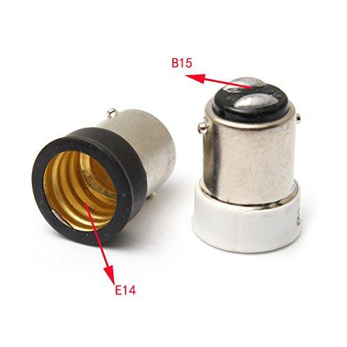 Peque/ño Bayoneta SBC B15 Para Peque/ño Tornillo SES E14 Luz Adaptador del Sostenedor de Bulbo Convertidor-Blanco