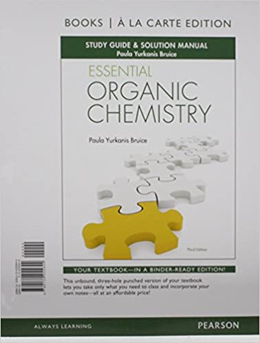 Student's study guide and solutions manual for organic chemistry.