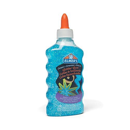 Elmer's Washable Classic Glitter Glue, 6 oz. Bottles, 3-Pack, Blue/Yellow/Red (E317)