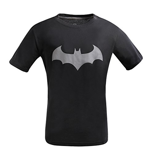 Justice League Batman T-Shirt, Graphic Short-Sleeve Novelty Tee (Black, XXL) ()