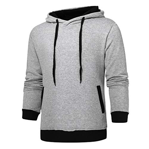 Fashion Men's Sweatshirt Sweater Crew Neck Pullover Big and Tall Long Sleeve Tops Shirt KLGDA Gray from KLGDA Mens Tops