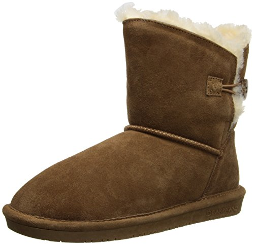 - BEARPAW Women's Rosie Winter Boot, Hickory, 8 M US