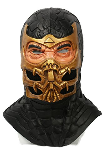 xcoser Mortal Scorpion Helmet Deluxe Resin Mask Adult Halloween Cosplay Costume Accessory Prop