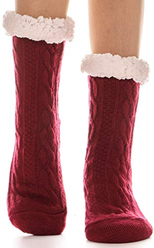 Womens Fuzzy Slipper Socks Warm Knit Heavy Thick Fleece for sale  Delivered anywhere in USA