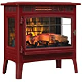Duraflame 3D Infrared Electric Fireplace Stove with Remote Control, Cinnamon - DFI-5010-03
