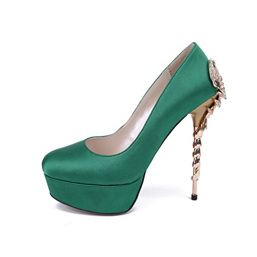 Semelle Minitoo vert Vert femme compensée d6nqH6az