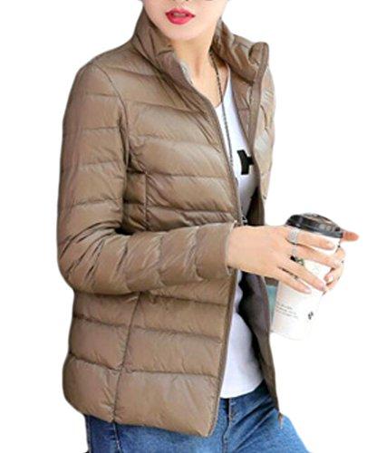 MU2M Coats Jackets Camel Women's Short Lightweight Packable Down Stand Puffer Collar q0PwqT7rnU