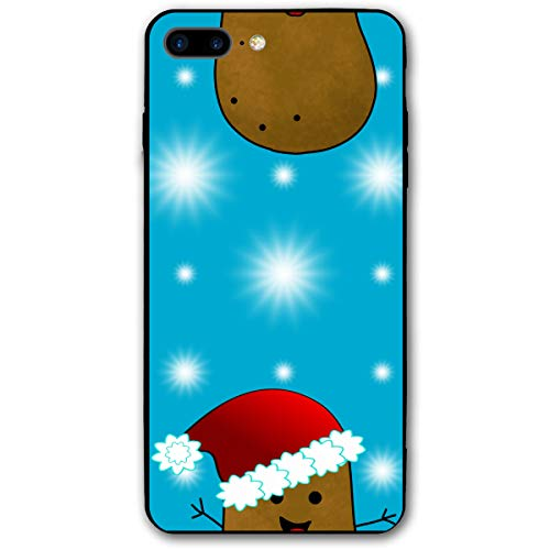 Christmas Potatoes Wearing Santa Hats iPhone 7plus 8plus 7/8 Plus Phone Case Cover Theme Decorative Mobile Accessories Ultra Thin Lightweight Shell Pattern Printed