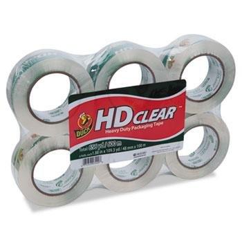 """Duck Heavy-Duty Carton Packaging Tape, 1.88"""" X 110 Yards, Cl"""