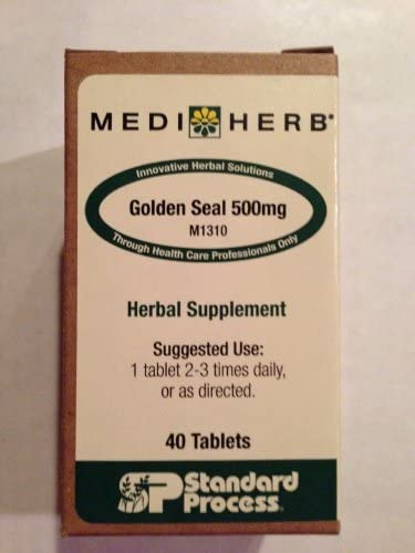 MediHerb Golden Seal 500mg 40 Tablets