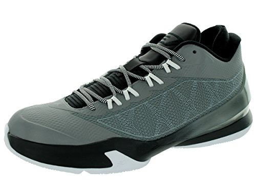 Nike Jordan Mens Jordan CP3.VIII Cool Grey/Black/White Basketball Shoe 8 Men US