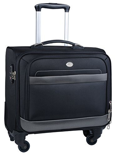 Rolling Laptop Case, COOFIT Nylon Rolling Laptop Briefcase Roller Laptop Bag - Laptop Bag Wheels