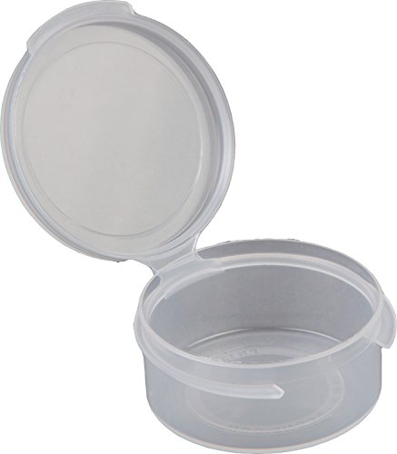 (Consolidated Plastics Hinged Lid Vial Poly-Con Container, 1/2 oz, Clear, 100 Piece)