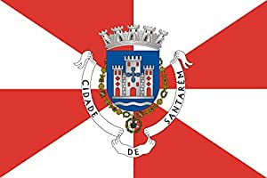 magFlags XXL Flag Santarém District   landscape flag   3.375m²   36sqft   150x225cm   5x7.5ft - 100% Made in Germany - long lasting outdoor flag