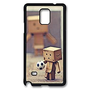 Galaxy Note 4 Case, Danboard Football Soccer Player Creativity Design Print Pattern Perfection Case [Anti-Slip Feature] [Perfect Slim Fit] Plastic Case Hard Black Covers for Samsung Galaxy Note 4
