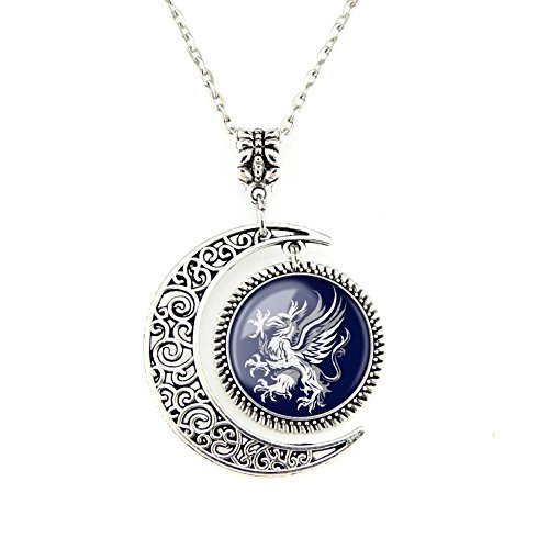 Crest Jewelry Pendant (Moon pendants Dragon Age Gray Wardens necklace Symbol Logo pendant Crest jewelry Custom necklace Gifts)