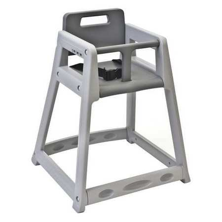 Plastic High Chair, Unssbld Gry - Koala High Chairs
