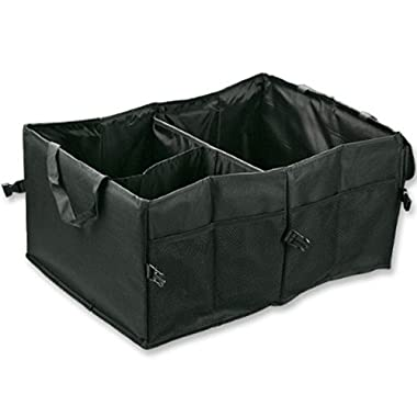 Astra Depot M25-025-1 Foldable Cargo Storage Box with Rope Handles, 60 x 40 x 26cm, Black