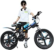 Kids' Tricycles 18/20/22 Inch Boys and Girls Bikes Children's Folding Bikes Students Variable Speed Mo