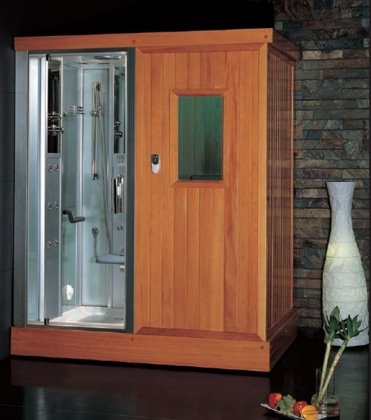 Beau DS204 Platinum Steam Shower And Sauna Combo Unit With Steam Sauna  Accupuncture Massage Hydro Massage Jets