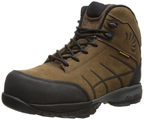 Nautilus 1845 ESD Comp Toe Waterproof No Exposed Metal Hiking Shoe,Brown,9.5 M US