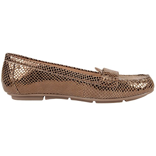 Vionic Womens 356 Chill Larrun Leather Shoes Bronze Snake