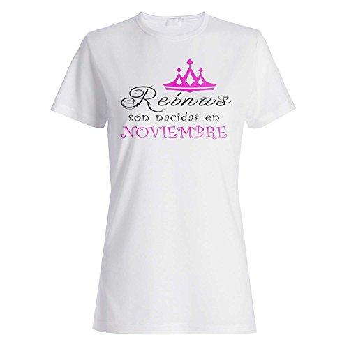 Nuevo Reinas son nacidas en Noviembre camiseta de las mujeres z85f
