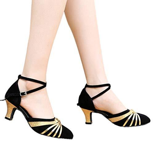 La Femmes Chaussures Adultes 35 lin 41 Rumba Sandales Ballroom Day Janes Danse Mary Latin Du 5 Moderne Carrée Prom Or Escarpins Salsa 5cm Waltz Pour De Ballerines qTXd5