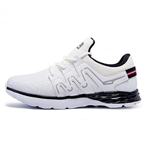 Herrenmode Cross Laufschuhe Trait entspannen Sport Sneaker Weiß schwarz