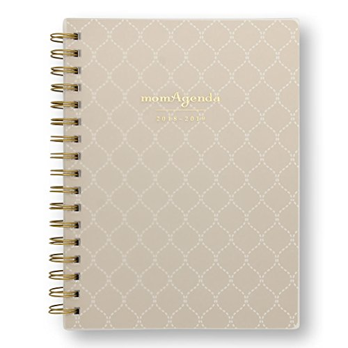 momAgenda Desktop Spiral Day Planner (August 2018 - December 2019) Organize Your Busy Life with The Convenient Week-at-A-View Layout. Quotes Included Each Week for Motivation (Sandy Lattice)