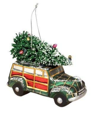 Bethany Lowe Christmas Vacation Car Glass Ornament