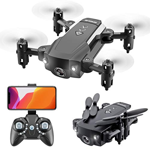 Drones with Camera for Adults Long Flight Time Mini Drone Folding Body Quadcopter Drone Remote Toys for Adults (Black…