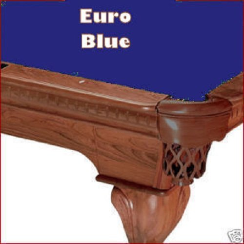 (8' Championship Invitational Teflon Euro Blue Billiard Pool Table Cloth)